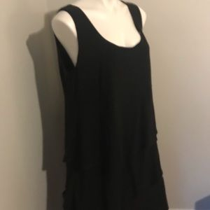 NWT C j banks black tiered dress